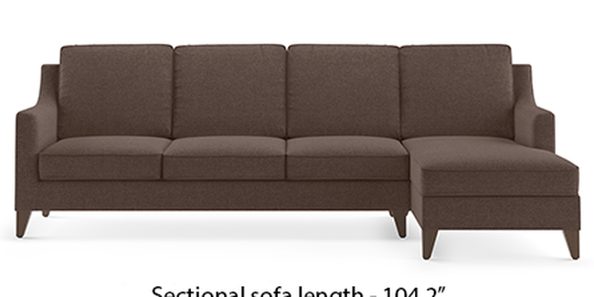 Abbey Sofa (Fabric Sofa Material, Regular Sofa Size, Soft Cushion Type, Sectional Sofa Type, Sectional Master Sofa Component, Daschund Brown)
