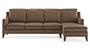 Abbey Sofa (Mocha, Fabric Sofa Material, Regular Sofa Size, Soft Cushion Type, Sectional Sofa Type, Sectional Master Sofa Component) by Urban Ladder