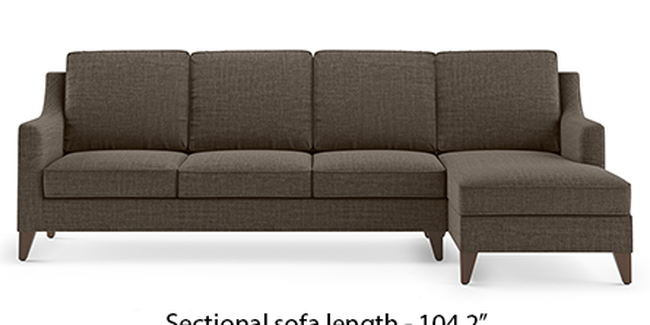 Abbey Sofa (Fabric Sofa Material, Regular Sofa Size, Soft Cushion Type, Sectional Sofa Type, Sectional Master Sofa Component, Pine Brown)