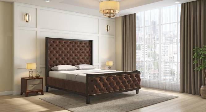 Barra Upholstered Bed (Brown, Queen Bed Size) by Urban Ladder