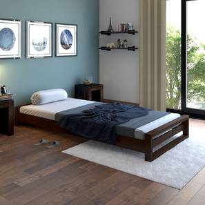 Yuri Single Bed (Dark Walnut Finish) by Urban Ladder