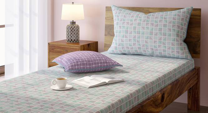 Overlay Bedsheet Set (Single Size, Mazarin Pattern, Lilac Mist) by Urban Ladder