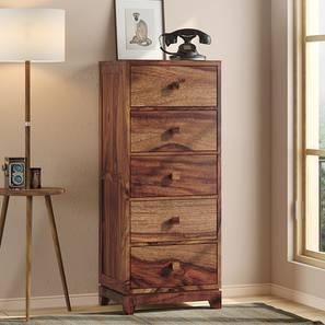 Magellan Tall Chest Of Drawer (Teak Finish) by Urban Ladder