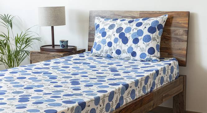Marigold Bedsheet Set (Indigo, Single Size, Torana Pattern) by Urban Ladder
