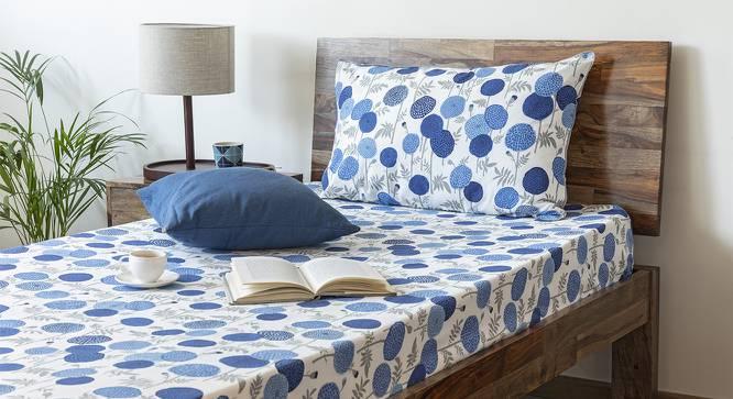 Marigold Bedsheet Set (Indigo, Single Size, Torana Pattern) by Urban Ladder