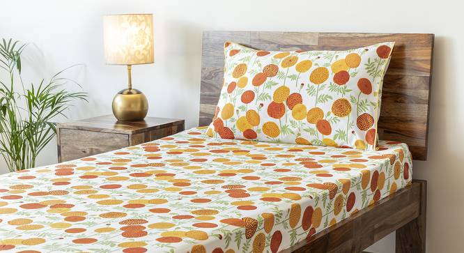 Marigold Bedsheet Set (Yellow, Single Size, Torana Pattern) by Urban Ladder