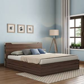 Covelo Storage Bed With Headboard Shelves (Walnut Finish, Queen Bed Size, Box Storage Type) by Urban Ladder