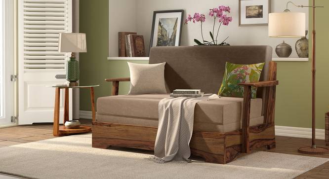 Mahim Compact Sofa Cum Bed (Two Tone Brown, Without Storage Arm) by Urban Ladder