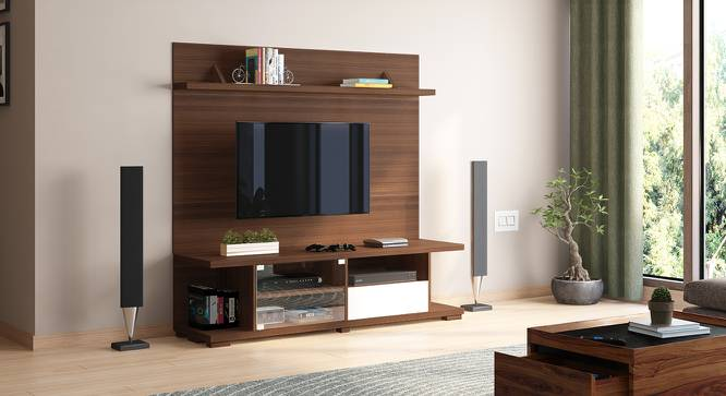 "Iwaki Swivel 59"" TV Unit (Walnut Finish, Floor Standing Unit) by Urban Ladder"
