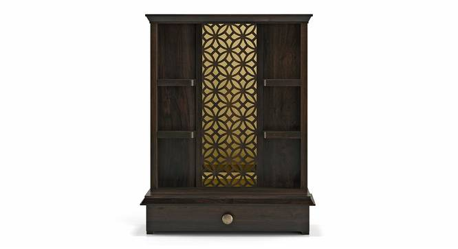 Ruhu Prayer Cabinet (American Walnut Finish, Open Configuration) by Urban Ladder