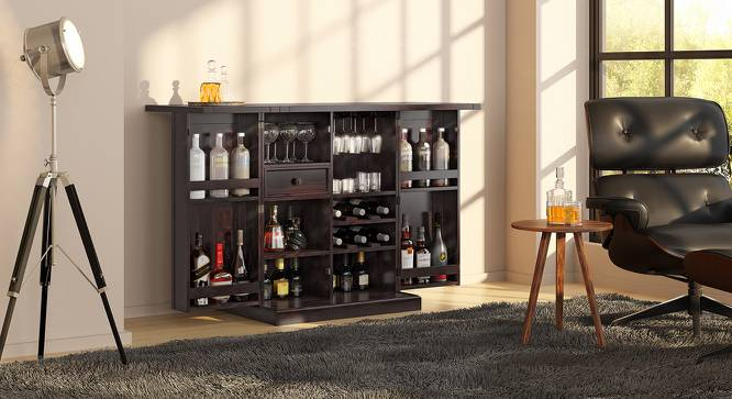 Caledonia Bar Cabinet (Mahogany Finish) by Urban Ladder