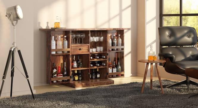 Caledonia Bar Cabinet (Teak Finish) by Urban Ladder