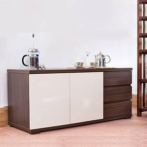 "Bayern 47"" Wide Sideboard (Dark Walnut Finish) by Urban Ladder"