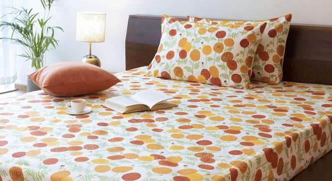 Marigold Bedsheet Set (Yellow, Double Size, Torana Pattern) by Urban Ladder