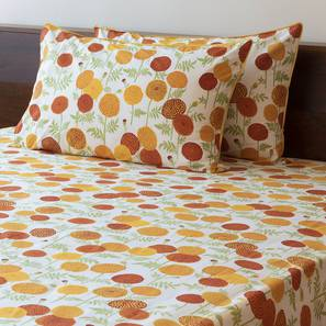 Marigold Bedsheet Set (Yellow, King Size, Torana Pattern) by Urban Ladder