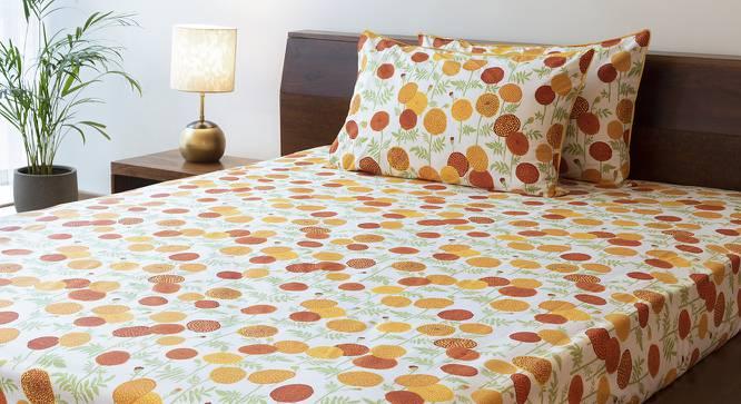 Marigold Bedsheet Set (Yellow, King Size, Torana Pattern) by Urban Ladder