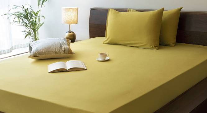 Serena Fitted Bedsheet (Antique Moss) by Urban Ladder
