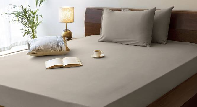 Serena Fitted Bedsheet (Grey) by Urban Ladder