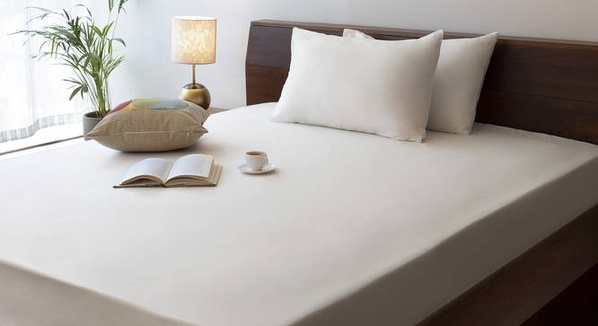 Serena Fitted Bedsheet (Ivory) by Urban Ladder