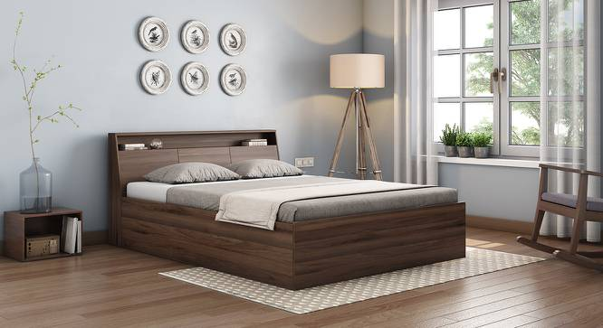 Arnold Storage Bed (Walnut Finish, Queen Bed Size) by Urban Ladder