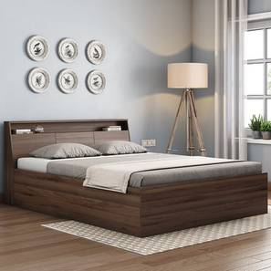 Arnold Storage Bed (Walnut Finish, King Bed Size) by Urban Ladder