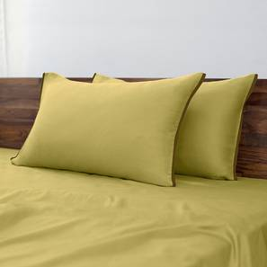 Serena 300 TC Sateen Bedsheet Set (King Size, Solid Antique Moss) by Urban Ladder