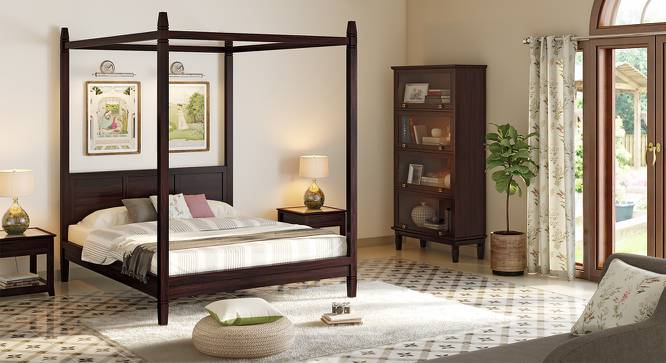 Malabar Four Poster Bed (Mahogany Finish, Queen Bed Size) by Urban Ladder
