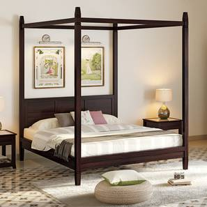 Malabar Four Poster Bed (Mahogany Finish, King Bed Size) by Urban Ladder