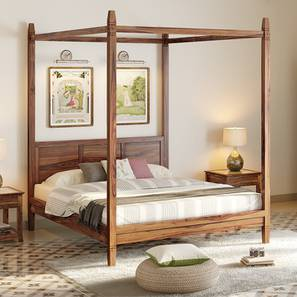 Malabar Four Poster Bed (Teak Finish, King Bed Size) by Urban Ladder