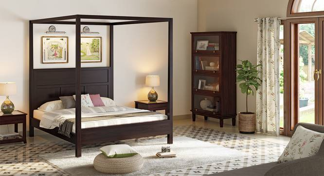 Dean Poster Bed (Mahogany Finish, Queen Bed Size) by Urban Ladder