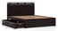 Clarence Storage Bed (Mahogany Finish, Queen Bed Size, Drawer Storage Type) by Urban Ladder