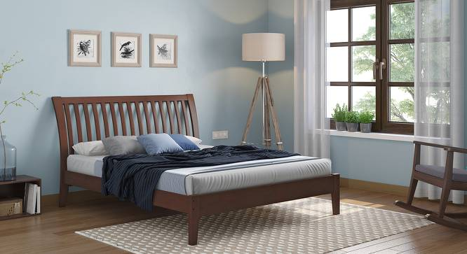 Tanera Bed (Queen Bed Size, Dark Walnut Finish) by Urban Ladder
