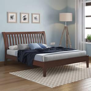 Tanera Bed (Queen Bed Size, Dark Walnut Finish) by Urban Ladder