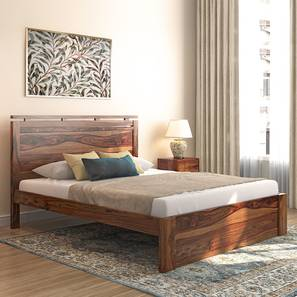 Clarence Bed (Teak Finish, Queen Bed Size) by Urban Ladder