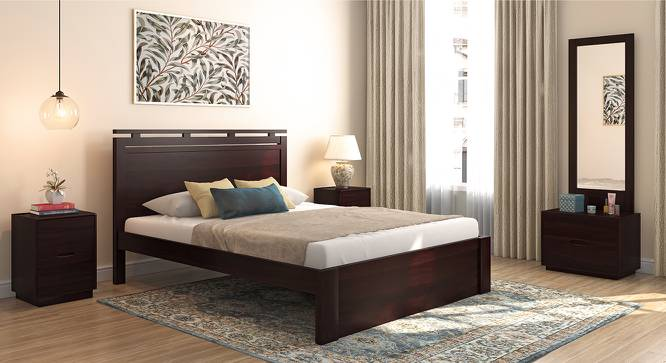 Clarence Bed (Mahogany Finish, Queen Bed Size) by Urban Ladder
