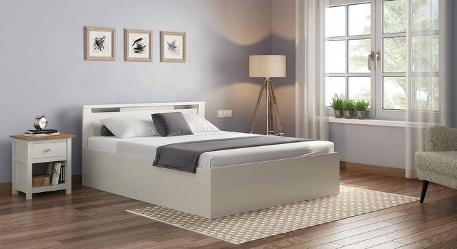 Tory Storage Bed (King Bed Size, White Finish) by Urban Ladder