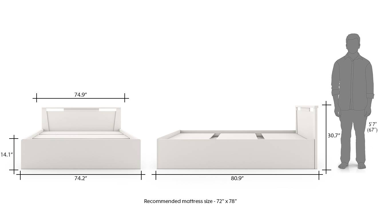 Tory storage bed king white 8