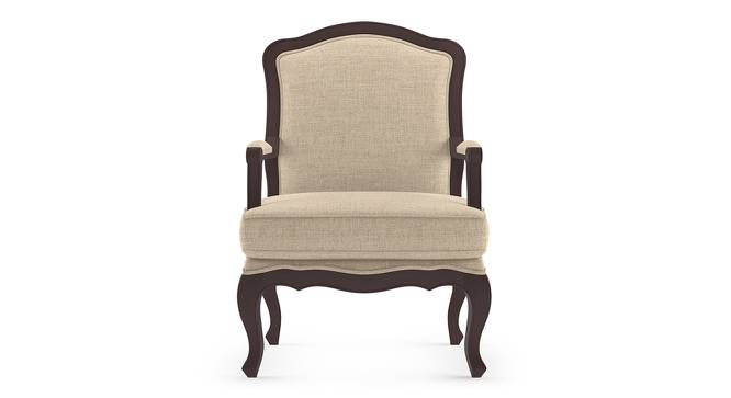 Lyon Armchair (Peony Natural, Brown Oak Finish) by Urban Ladder