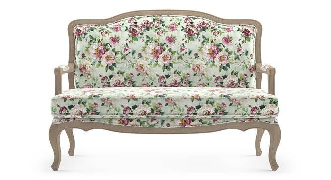 Lyon 2 Seater Sofa (Natural Distressed  Finish, Clara Velvet) by Urban Ladder