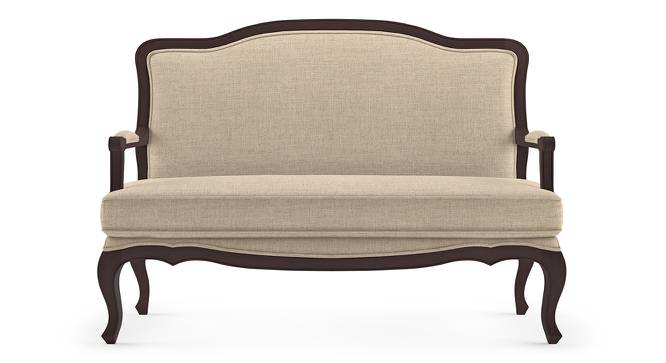 Lyon 2 Seater Sofa (Peony Natural, Brown Oak Finish) by Urban Ladder