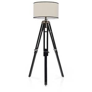 Hubble tripod floor lamp cotton white drum shade lp2