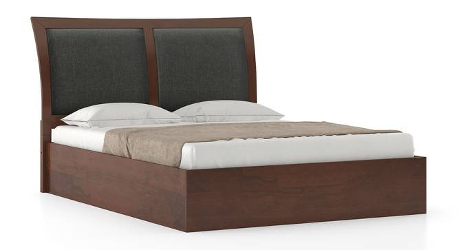 Packard Storage Bed (King Bed Size, Dark Walnut Finish) by Urban Ladder
