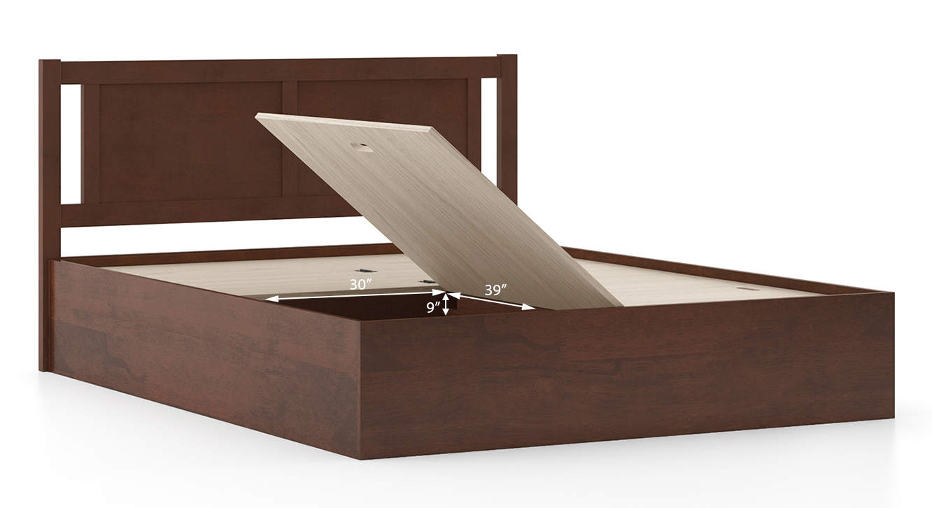 Brandenberg storage bed dark walnut queen 6