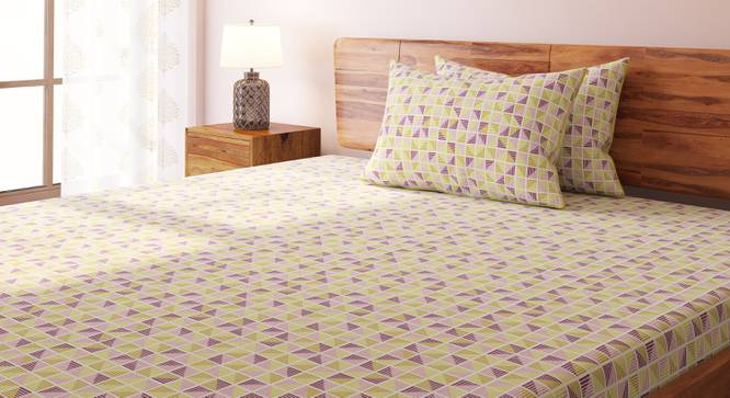 Overlay Bedsheet Set (Double Size, Mazarin Pattern, Yellow Haze) by Urban Ladder
