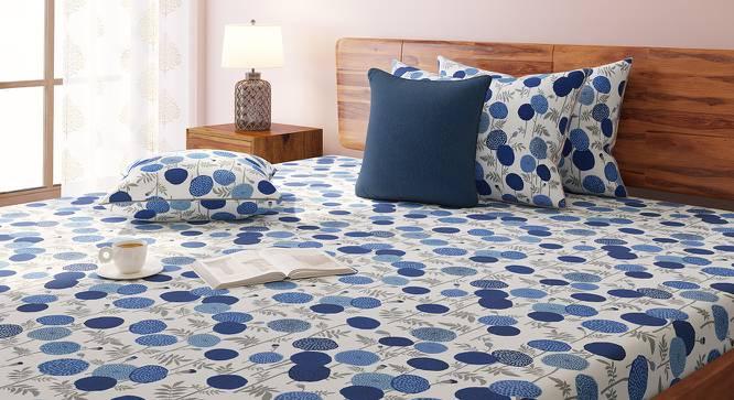 Marigold Bedsheet Set (Indigo, King Size, Torana Pattern) by Urban Ladder