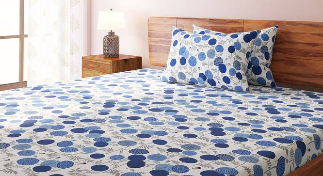 Marigold Bedsheet Set (Indigo, King Size, Torana Pattern) by Urban Ladder