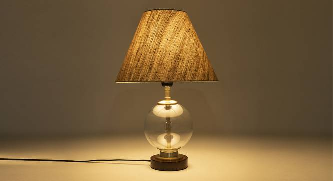 Corning Table Lamp (Walnut Finish) by Urban Ladder