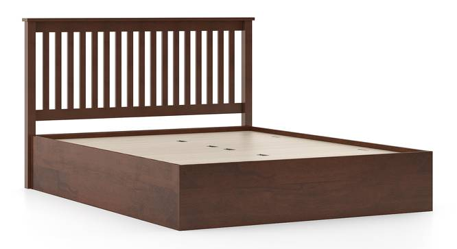 Athens Storage Bed (King Bed Size, Dark Walnut Finish, Box Storage Type) by Urban Ladder