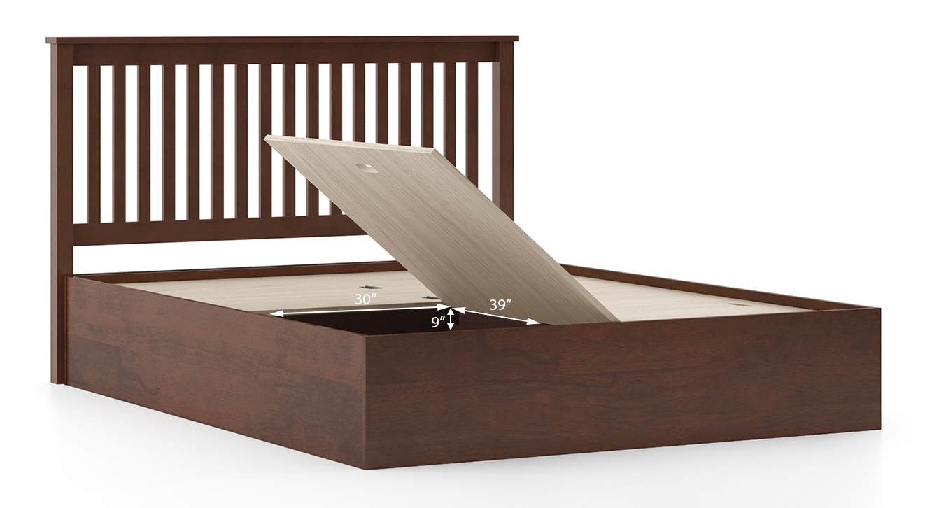 Athens storage bed dark walnut queen 4