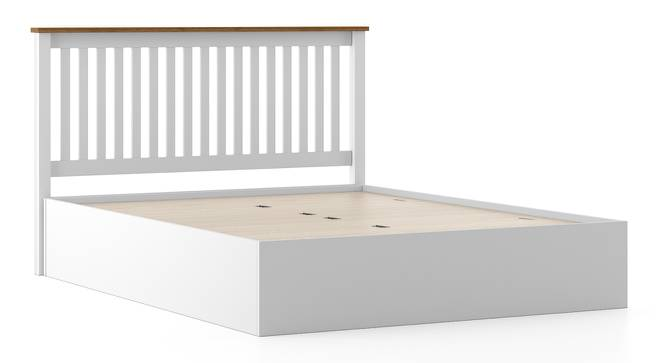 Athens White Storage Bed (King Bed Size, White Finish, Box Storage Type) by Urban Ladder
